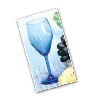 MEDITERRANEAN BLUE WINEGLASSES